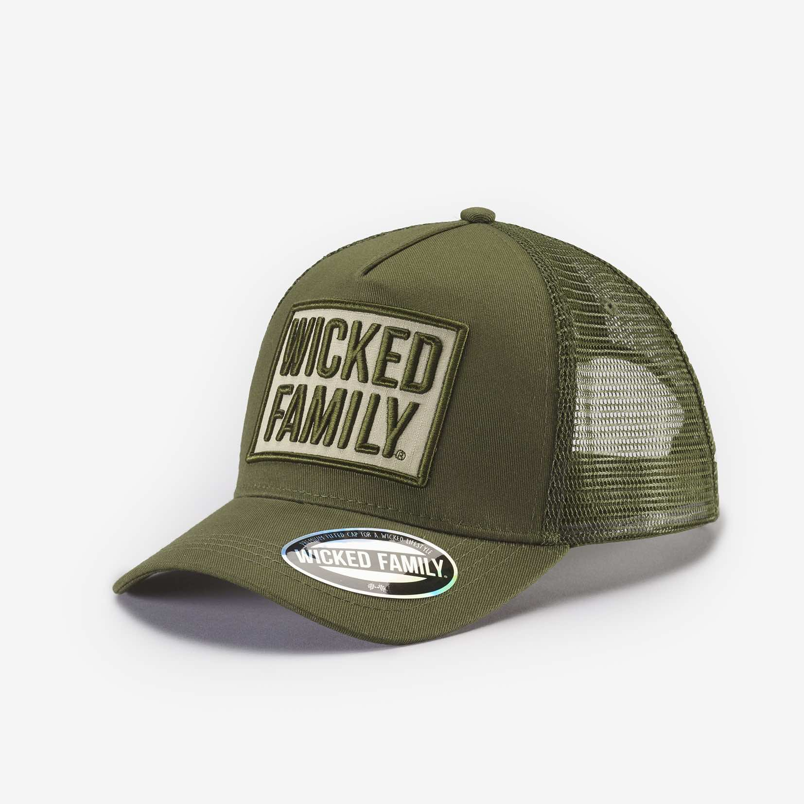 a6638fd8d84a9 WICKED FAMILY green hat - The Wicked Family
