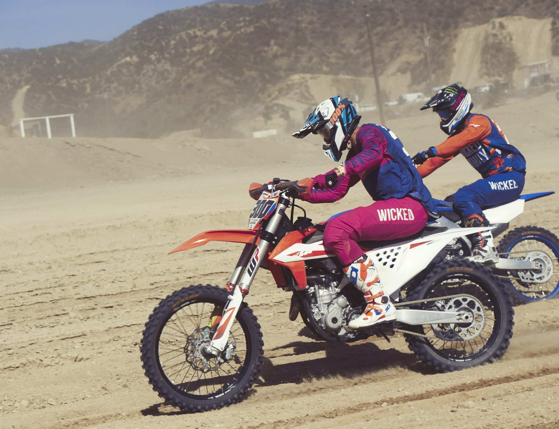 Dirt bike riding at glen Helen